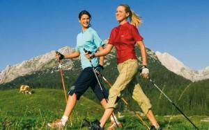 Скандинавская ходьба в качестве диеты